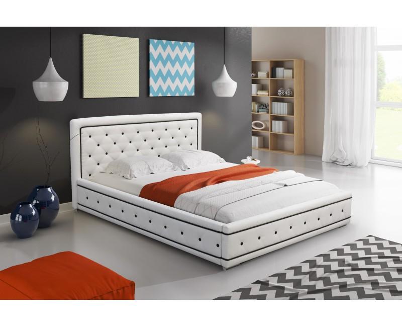 Moderní čalouněná manželská postel 160 x 200 cm Lara max