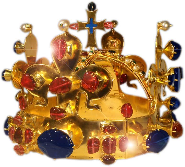 Expozice repliky svatováclavské koruny v Pražské mincovně