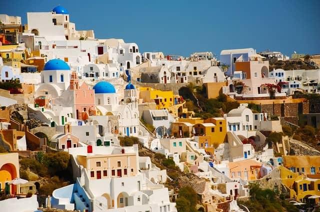 santorini v řecku