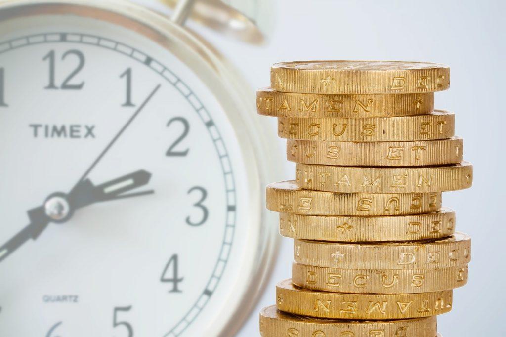 peníze, čas, půjčka